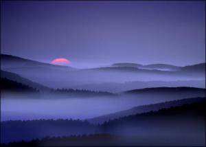 Paisagem-sol-e-montanhas